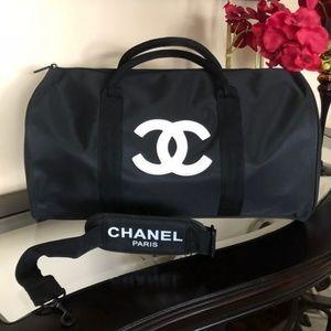 CHANEL VIP GIFT TRAVEL BAG GYM BAG CROSS BODY BAG
